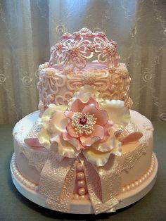 image of Pink Dream Wedding Cake Ideas Beautiful Wedding Cakes, Gorgeous Cakes, Pretty Cakes, Amazing Cakes, Dream Wedding, Camo Wedding, Wedding Reception, Unique Cakes, Elegant Cakes