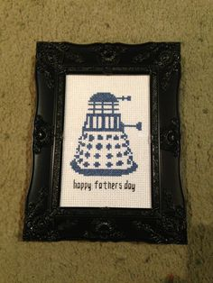 Doctor Who - Dalek - Happy Fathers Day Cross Stitch Little Red Stitches