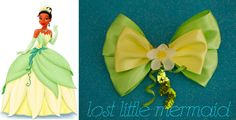 """Tiana Inspired Flower Hair Bow - """"You just kissed yourself a princess"""""""