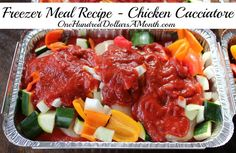 Freezer Meal Recipe – Chicken Cacciatore