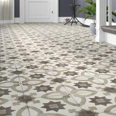 Encausto Hand Made Encaustic Look Cool Blend Deco Tile in Sole by Wayfair Porcelain, Gorgeous Tile, Tile Floor, Patchwork Tiles, Wall Patterns, Flooring, Spanish Style Tile, Types Of Flooring, Natural Stone Tile