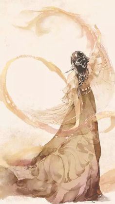 Credits to the artist ❤️ Anime Art Girl, Manga Art, Anime Fantasy, Fantasy Art, Art Asiatique, China Art, Pretty Art, Ancient Art, Japanese Art