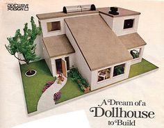 free modern doll house plans | Cardboard Dollhouse Plans