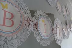 using doilies as background