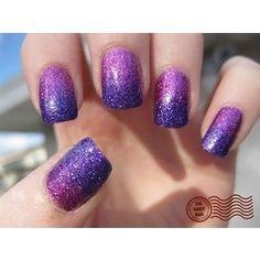 Purple Disco Nail Art
