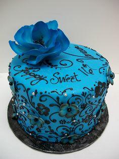 Blue Sweet 16 Cakes | Blue sweet 16 cake | Flickr - Photo Sharing!