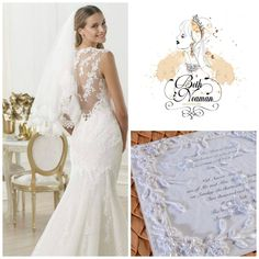 The romantic lace wedding gown is the inspiration for the wedding invitation.   Join us in a workshop to demonstrate how to make your own wedding invitation http://www.uniquelyyoursweddinginvitation.com/creativity-workshops/