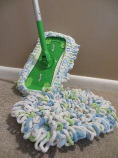 PATTERN-Washable Mop Head - for Swiffer mop Washable Swiffer mop head! Crochet Home Decor, Crochet Crafts, Yarn Crafts, Free Crochet, Crochet Top, Swiffer Pads, Bernat Baby Blanket, Blanket Yarn, Yarn Projects