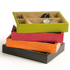A place for Shiv to empty his pockets:) Tizo Colored Wood Valet Tray