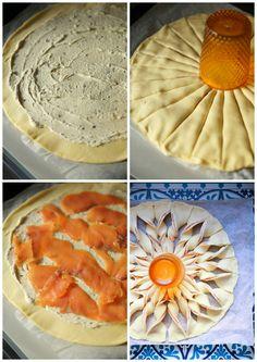 Tarte soleil au saumon & boursin