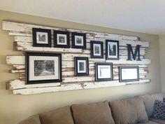 fotowand im wohnzimmer kreative ideen