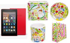 Enter this giveaway for a chance to win a Kindle Fire 7 and a Blond Amsterdam Paradise cookie jar, mug, plate and tote bag set. Good ...