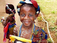 Menina africana - Ghana Foto Editorial