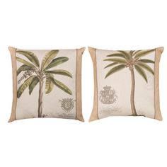 Palm Fresco Indoor/Outdoor Pillows (Set of 2) - Overstock™ Shopping - Great Deals on Throw Pillows