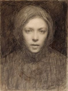 Ellen Thesleff (Finnish artist) 1869 - 1952 Omakuva (Self-Portrait)She became a member of a group of Finnish artists influenced by the Symbolist movement in Paris. Helene Schjerfbeck, Self Portrait Drawing, Portrait Art, Figure Drawing, Painting & Drawing, You Draw, Figurative Art, Female Art, Art History