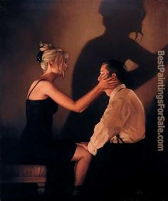 jack vettriano | Jack Vettriano Paintings - Jack Vettriano At Last my Lovely Painting