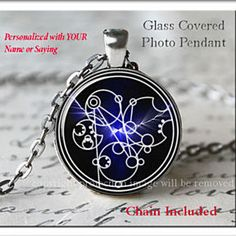 Doctor Who Personalized Gallifreyan Pendant Silver Necklace Tardis Time Crack by ChicBridalBoutique on Opensky