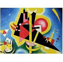 Hand-painted Oil Reproduction of Wassily Kandinsky Im Blau.