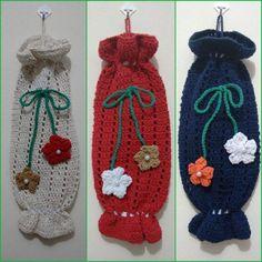 Yarn Crafts, Diy And Crafts, Plastic Bag Crochet, Crochet Kitchen, Crochet Gifts, Crochet Projects, Tatting, Crochet Earrings, Crochet Patterns