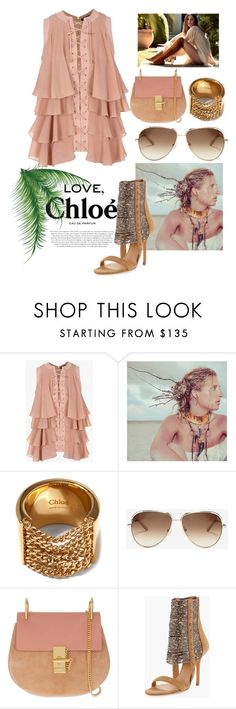 """""""Chloe...."""" by grinevagh ❤ liked on Polyvore featuring Balmain, Jimmy Choo, Chloé and ALEXA WAGNER"""