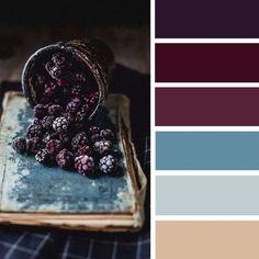 100 Color Inspiration Schemes : Teal and Blackberry Color Palette by alyce Colour Pallete, Colour Schemes, Color Patterns, Color Combos, Color Palettes, Color Balance, Design Seeds, Colour Board, Color Swatches