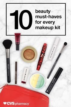 You'll look great no matter what the holidays throw at you with these 10 makeup essentials. We've paired the hottest brands with tried-and-true favorites to give you the perfect mix, and you don't even have to go all over town to get them all! That's the beauty of CVS Pharmacy.