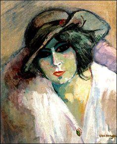 Femmes à chapeau (188) Kees Van Dongen (1877-1968) La femme au chapeau vert…