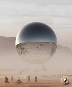 bjarke ingels and jakob lange crowdfund plans to build giant reflective 'ORB' at burning man Burning Man People, Burning Man Art, Electric Forest, Electric Daisy, Geek Jewelry, Gothic Jewelry, Jewelry Necklaces, Burning Man Fashion, Steampunk Diy
