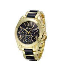 Smilelee Luxury Brand Watches Men Montres Gold Watch For Men Horloges Geneva Roman Numeral Uhr Mens Wrist Watch Man