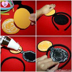 DIY Minnie Mickey Mouse ears