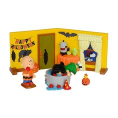 Peanuts Halloween Party Set of 4 4032912 Department 56 NIB