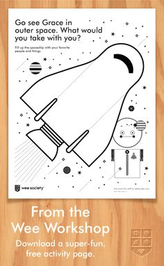 For World Space Week, this activity stars Grace from outer space. Creative Activities For Kids, Activities To Do, Creative Kids, Sensory Wall, Arithmetic, Play To Learn, Activity Ideas, Lifehacks, Outer Space