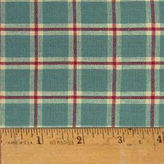 fabulous! :) - homespun ginger blue cotton fabric for M's rag quilt