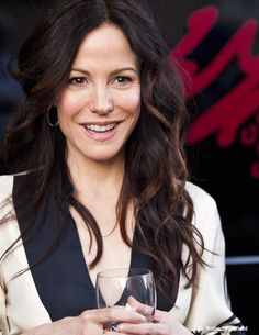 Mary-Louise Parker and a glass of wine. She looks like a local now. Photo (c) Robert Redfield Mary Louise Parker, Independent Films, International Film Festival, Short Film, Documentaries, Actresses, Portraits, Wine, Glass