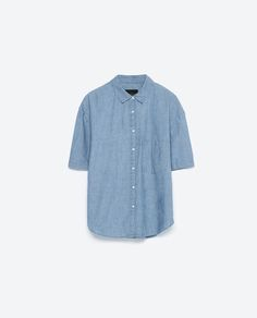 Image 6 of OVERSIZED DENIM SHIRT from Zara