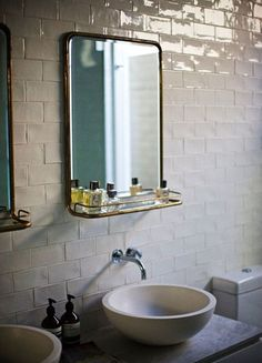 I love a simple, unique, timeless bath... all images via Have a wonderful week!