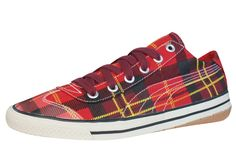 Puma 917 Lo Tartan Womens Trainers / Shoes - Red