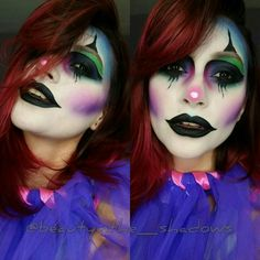 Clown inspired via @beautyinthe_shadows on Instagram using our Wicked lippie.