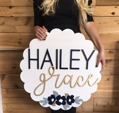 Nursery Name Sign Wooden Name Signs, Wood Names, Baby Name Signs, Nursery Name, Nursery Signs, Girl Nursery, Jungle Nursery, Nursery Decor, Cute Baby Names