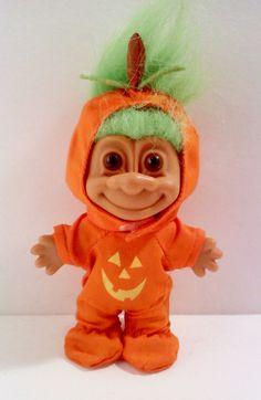 Vintage RUSS Troll Doll- Pumpkin