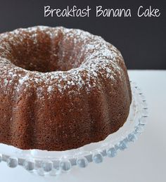 Moist banana cake from scratch!
