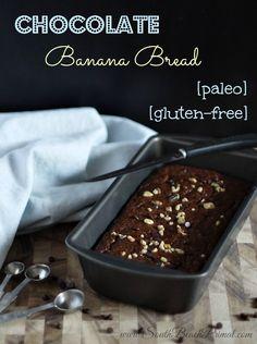 Paleo Chocolate Banana Bread #SouthBeachPrimal