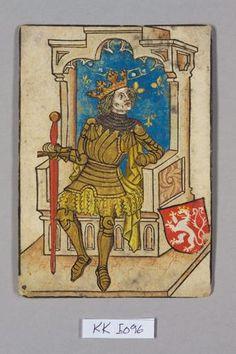 King, Court of Bohemia (holding Szczerbiec, the coronation sword of Poland in it's red scabbard).  From 1440-44, Wladislaw III ( I. Ulászló) of Poland, son of Władysław II Jagiełło & Sophia of Halshany.  He was Ladislaus's rival in both Hungary and Bohemia.