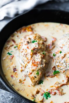 Instant Pot chicken breasts with sun dried tomato cream sauce makes a restaurant-quality meal in under 30 minutes! Juicy chicken breasts are served with a delicious sun dried tomato parmesan cream sauce. Low carb and gluten-free. Sun Dried Tomato Sauce, Creamy Tomato Sauce, Tomato Cream Sauces, Sundried Tomato Recipes, Sundried Tomato Chicken, Spicy Shrimp Pasta, Crockpot Recipes, Chicken Recipes, Cream Sauce Recipes