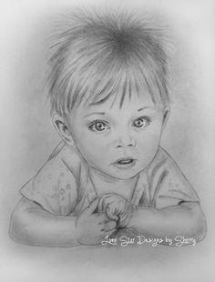 Baby Face Drawing, Realistic Face Drawing, Art Drawings Sketches Simple, Pencil Art Drawings, Avengers Drawings, Mermaid Drawings, Charcoal Art, Black Love Art, Silhouette Art