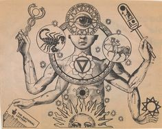 drawing Illustration art trippy drugs trip surrealism zodiac surreal astrology scorpio meditation cult Astronomy hallucination illusion Spiritual Eye Of Horus all seeing Spiritual Art, Alchemy Art, Esoteric Art, Illustration Art, Alchemy Symbols, Art, Occult Symbols, Dark Art, Occult Art