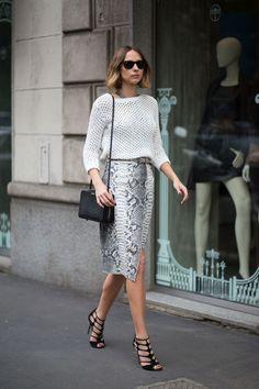 Candela Novembre's Milan fashion week street style: Fall 2015