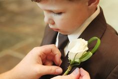 One of my sweet cousins as a ring bearer at our wedding~Wedding photo by Dani Rose Photography/Knoxville, TN