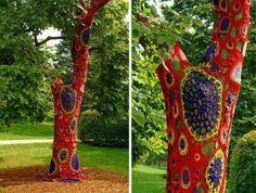 arbre rouge et violet