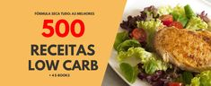 """ALIMENTOS PERMITIDOS E """"PROIBIDOS"""" NA LOW CARB Frutas Low Carb, Janta Low Carb, No Carb Diets, Grains, Cooking Recipes, Chicken, Meat, Food, Healthy Foods"""